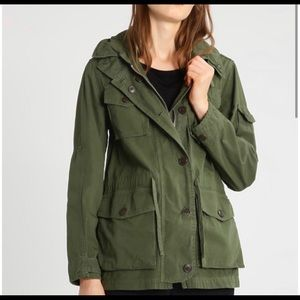 J. Crew army green fatigue Jacket in great cond.